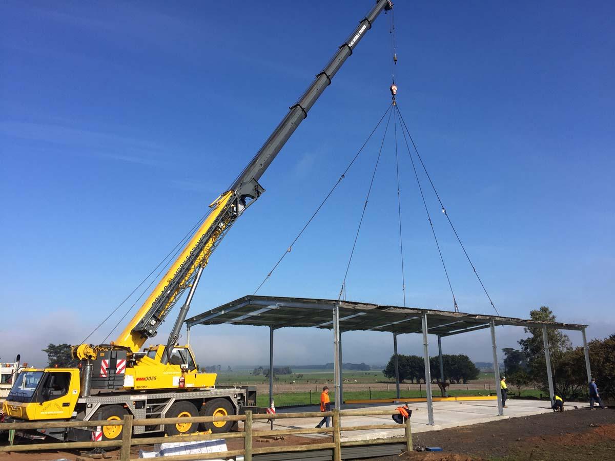 Mobile Crane Hoist : Multi crane construction project colac mobile